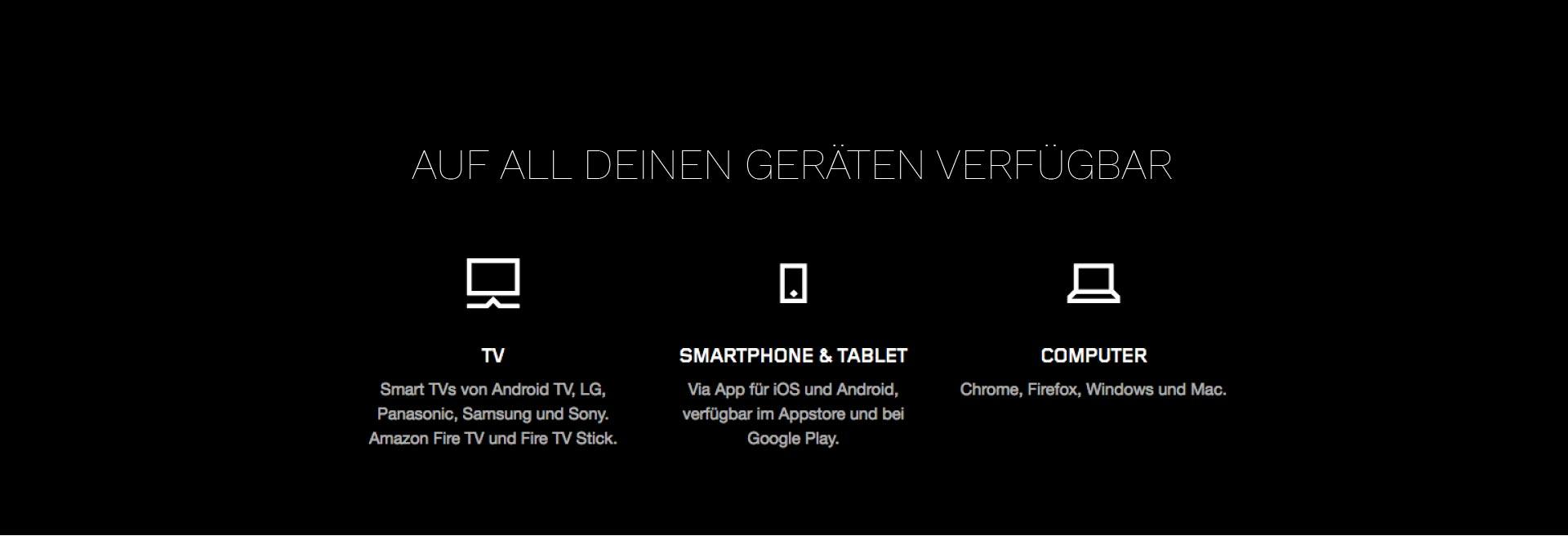 auf Handy Tablet DEsktop erreichbar
